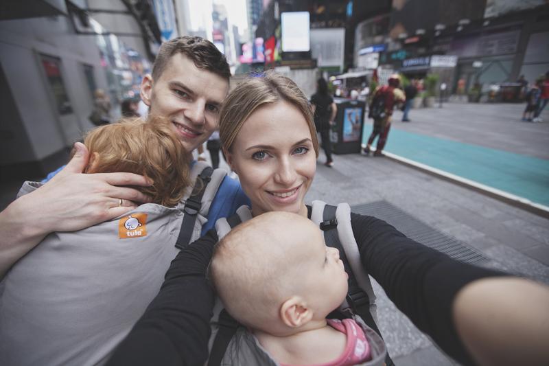 zalety podróżowania z dziećmi, wakacje z dziećmi, podróż z dziećmi, wakacje z dzieckiem, wyjazd do Nowego Jorku z dziećmi, wakacje w USA, podróże z rodziną, nosidło Tula, szczęśliwa rodzina, parenting, rodzicielstwo bliskości